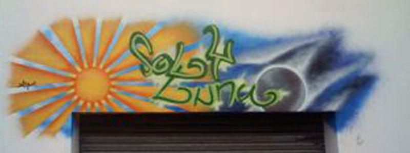 Sol y Luna | DazoArt - Graffitis & Arte Mural